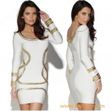 Top Quality Kim Kardashian Longsleeve Embellished Dress