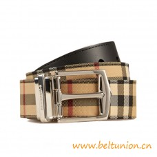 Top Quality Reversible Horseferry Check and Sartorial Leather Belt