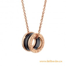 Top Quality B.zero1 Necklace with Rose Gold Cain and Ceramic Pendant