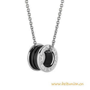 Top Quality Save The Children Necklace with Sterling Silver and Black Ceramic Pendant