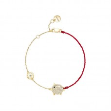 Top Quality Adorable Piggy and Coin Chain Bracelet