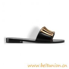 Authentic Design Evolution Slide Calfskin Leather Sandals