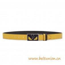 Top Quality Reversible Belt in Elite Calfskin Enameled Buckle with Cufflink Closure