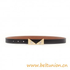 Top Quality Leather with Metal Buckle and Crystal Wonders Belt