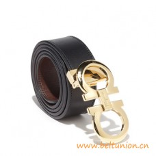 Top Quality Reversible and Adjustable Belt with Double Gancio Buckle