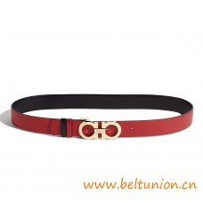 Top Quality Double Gancio Calfskin Belt for Women