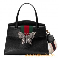 Top Quality Medium Top Handle Bag with House Web Stripe