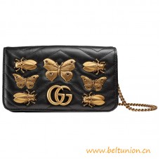 Top Quality Marmont Metal Insects Studs Mini Leather Bag