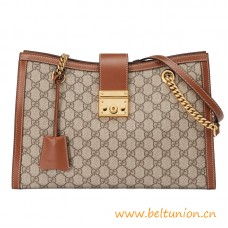 Top Quality Shoulder Bag with a Key Lock Closure and Chain Straps