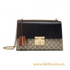 Top Quality Padlock Medium Shoulder Leather Bag