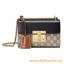 Top Quality Padlock Small Shoulder Leather Bag