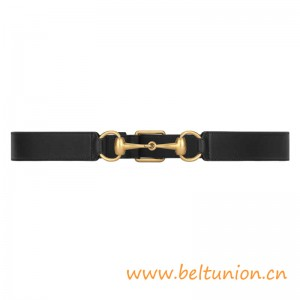 Top Quality Leather Belt with Horsebit for Women