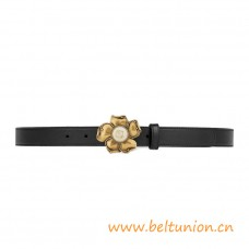 Top Quality Leather Belt Metal Flower with Glass Pearl Detail