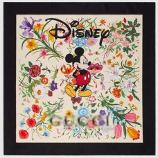 Top Quality Disney x G Silk Scarf with Flora Print