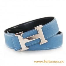 Original Design Reversible Belt Sky Blue with H Buckle