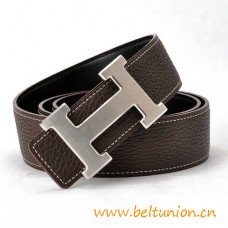 Original Design Reversible Belt Coffee with H Buckle