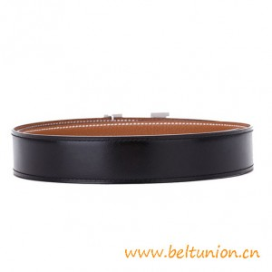 Top Qaulity Reversible Calfskin Leather with Buckle and Belt Box
