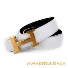 Gute Qualität Umkehrbarer Gürtel Weiße mit H Gürtelschnalle
