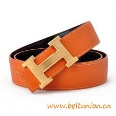 Original Design Reversible Belt Orange with H Buckle