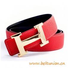 Original Design Reversible Belt Sao Red with H Buckle