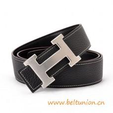 Original Design Reversible Belt Black with H Buckle