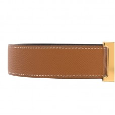 Top Quality Reversible Leather Belt in Swift Calfskin with Belt Buckle