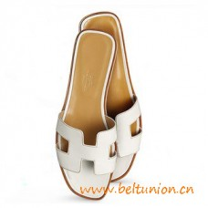 Original Design Oran Sandals Leather Slippers Snow White