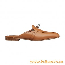 Top Quality Oz Calfskin Mules with Palladium-plated Mini Kelly Buckle