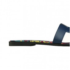 "Top Quality Calfskin Sandal ""Faubourg Rainbow"" Printed Canvas Insole"