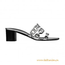"Top Quality Sandal in Calfskin with ""Chaine d'Ancre"" Motif"