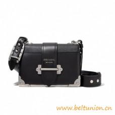 Top Quality Leather Shoulder Strap Bronze Hardware Cahier Bag