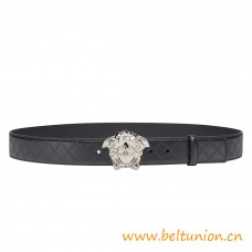 Top Quality Medusa Embossed Greca Leather Belt