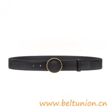 Top Quality Round Resin Medusa Leather Belt