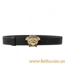 Top Quality Palazzo Calf Leather Belt with Medusa Head Buckle