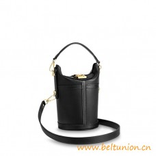 Top Quality Duffle Bag a Day To Evening Black Leather Bag