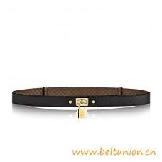 Top Quality Lock me 25mm Calf Leather Belt Black