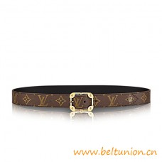 Top Quality Malletier Monogram 30mm Belt With its Refined Buckle