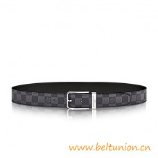 Top Quality Pont Neuf 35MM Damier Graphite Leather Belt