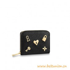 Top Quality Zippy Coin Purse in Grained Epi Leather with Love Lock Edition