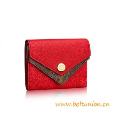 Top Quality Double V Compact Calfskin Leather Wallet