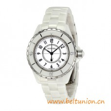 Top Quality J12 33mm White Ceramic and Steel Quartz Movement Watch